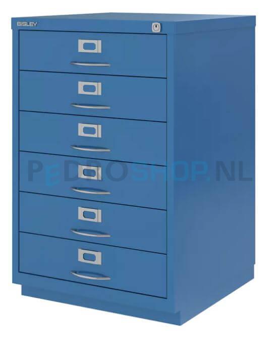 Ladenkast 6 Laden.Ladenkast Bisley F Serie 6 Laden Azuurblauw Kopen